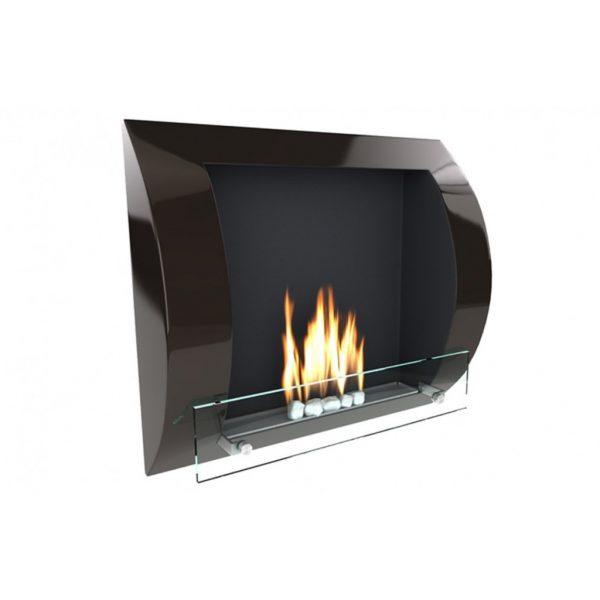 Fuego väggmonterad kamin svart
